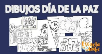 Dibujos para colorear día de la Paz