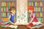 educacion-de-los-ninos-los-ninos-estudiando-en-la-biblioteca