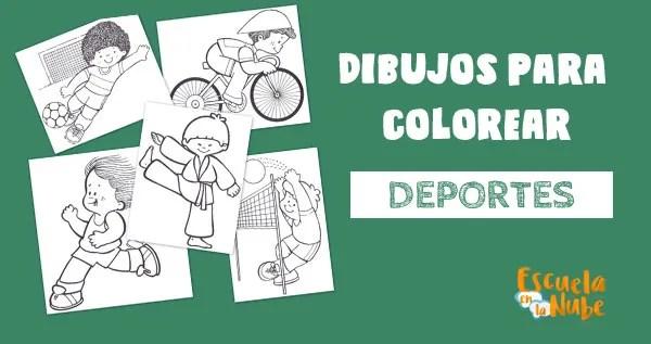 DEPORTES, DIBUJOS PARA COLOREAR, DIBUJOS PARA COLOREAR DEPORTES