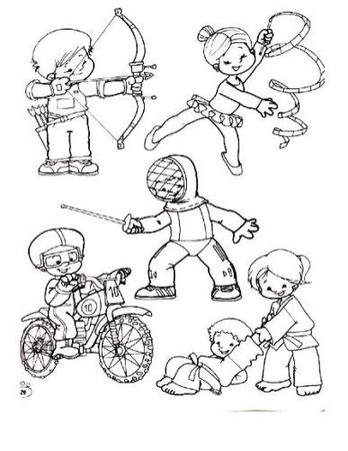 Deportes. Fichas para imprimir y colorear