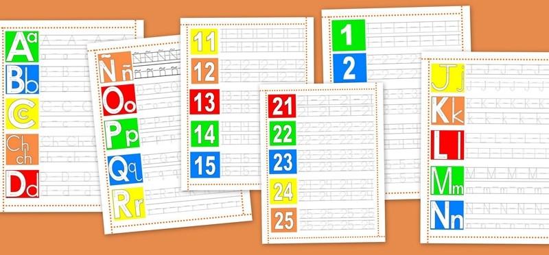 Lectoescritura en letras y números