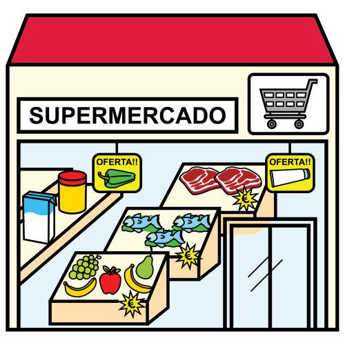 Bits de imágenes para reconocer las tienda de la ciudad