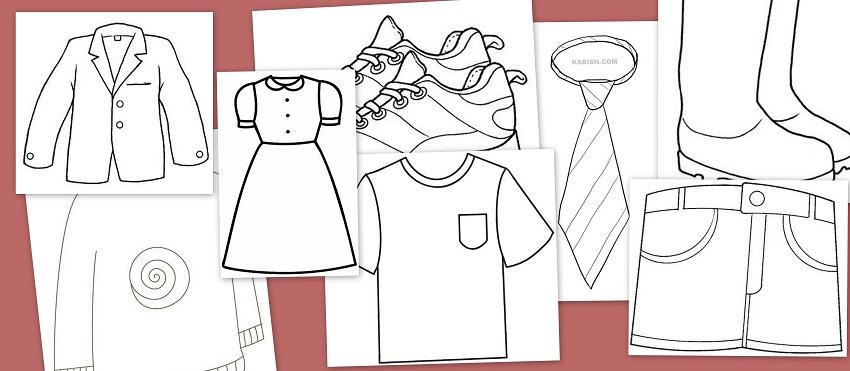 Dibujos De Ropa Para Colorear E Imprimir: Dibujos Para Colorear: Fichas De Prendas De Vestir