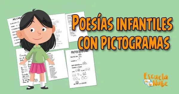 Imágenes de poesías, Poesías infantiles con pictogramas