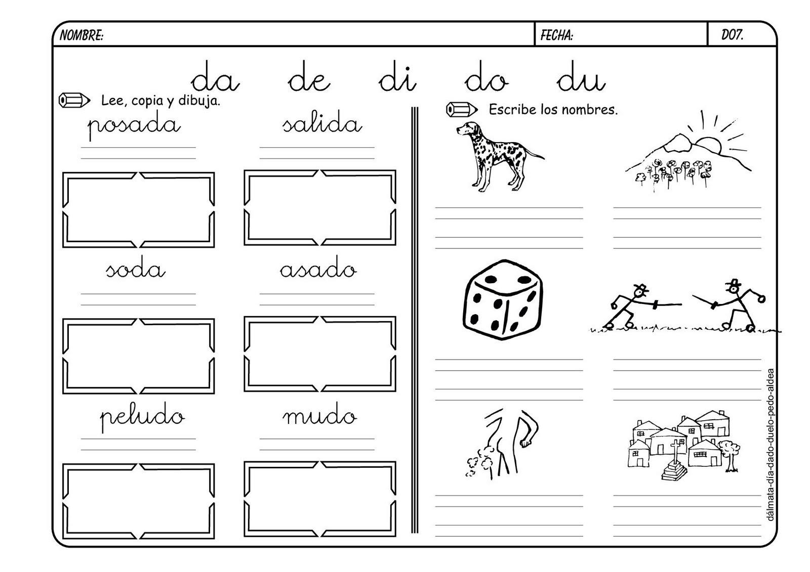 Lectoescritura Con Las Consonantes
