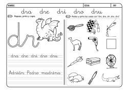 Lectoescritura con la letra D