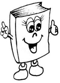 Imagenes De Libros Animados Para Colorear Libros Para