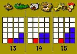 Números 13-14-15