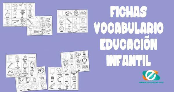 vocabulario de palabras