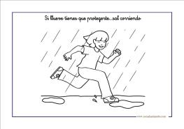 Fichas infantil: la lluvia