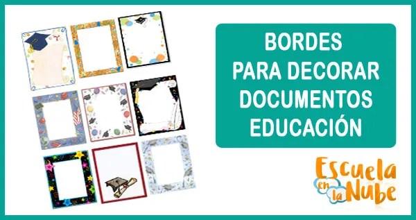 bordes, graduación, decorar documentos