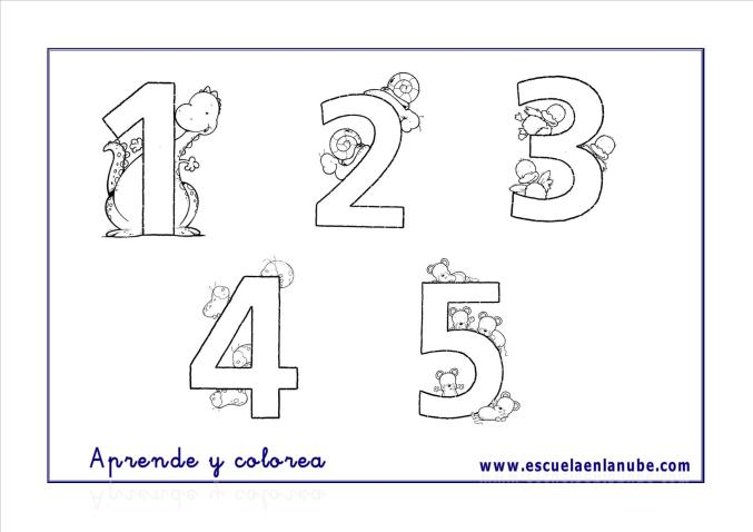 Fichas de matemáticas: Los números del 1 al 5