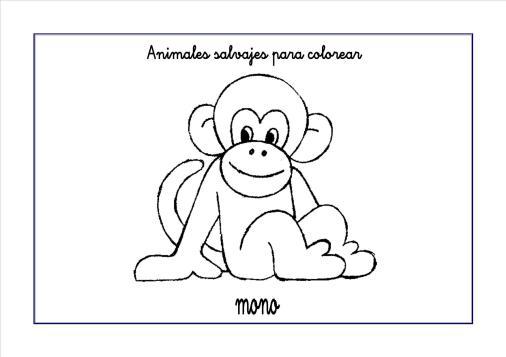 mono colorear