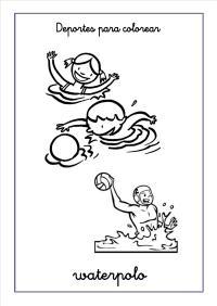 Dibujos Para Colorear Waterpolo Dibujo De Polo Para Colorear