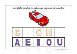 completa las vocales_coche