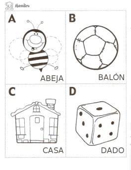 fichas abecedario colorear 30