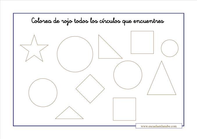 Fichas Matematicas Ejercicios De Figuras Geometricas