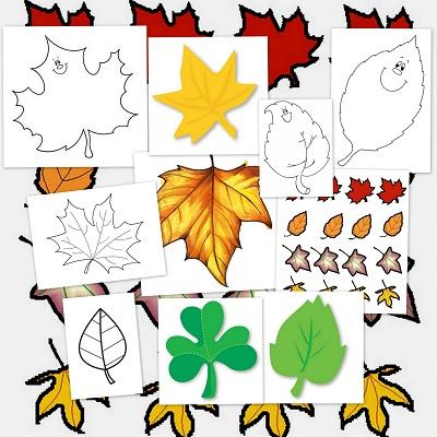 Llega el oto o hojas para colorear y decorar - Decorar hojas de otono ...