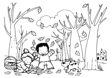 dibujos colorear otoño 05