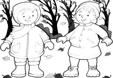 dibujos colorear otoño 06