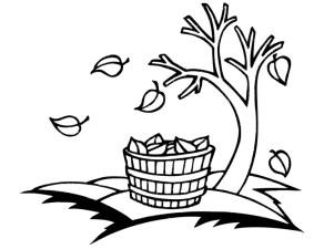 dibujos colorear otoño 24
