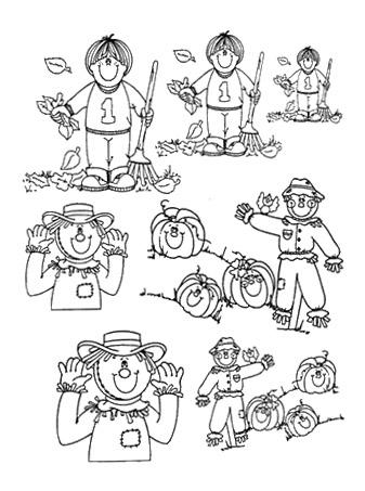 dibujos colorear otoño 28