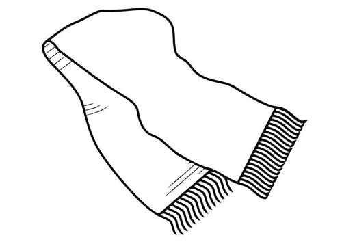 11 bufanda para colorear