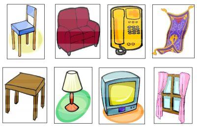 objetos del salon