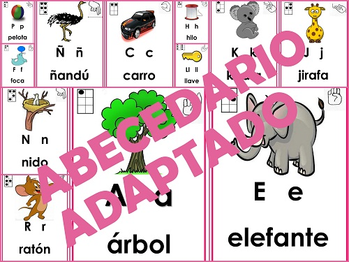 alfabeto, abecedario, alfabeto adaptado