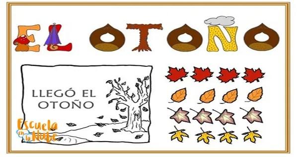 otoño para niños de primaria, fichas de otoño, dibujos de otoño para colorear