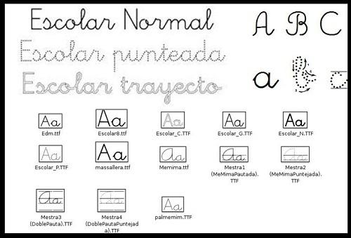 Tipos de letra escolares fuentes para trabajar con tus fichas - Fuente letra infantil ...