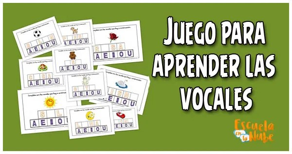 Juegos para aprender las vocales en el aula