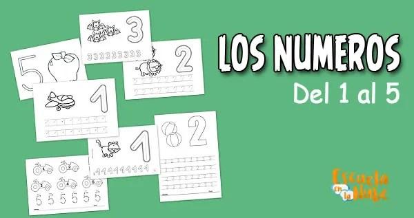 números del 1 al 5, los numeros