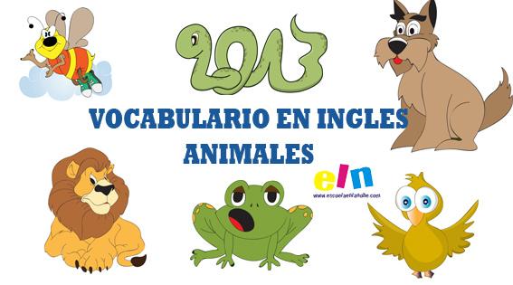 vocabulario inglés, palabras en inglés, animales en inglés, recursos educativos en inglés