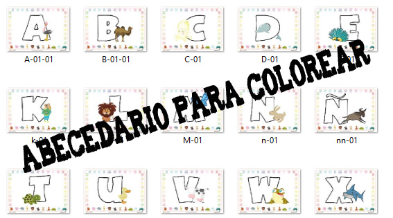 abecedario, alfabeto
