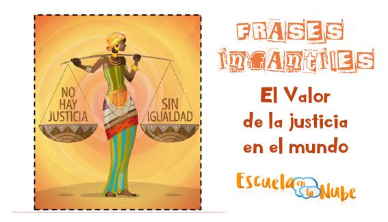 valor de la justicia, igualdad niños, justicia niños, frases infantiles