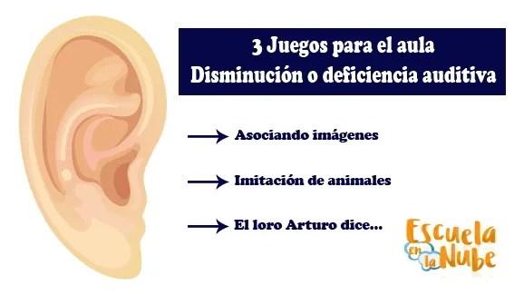 Juegos para niños con disminución auditiva