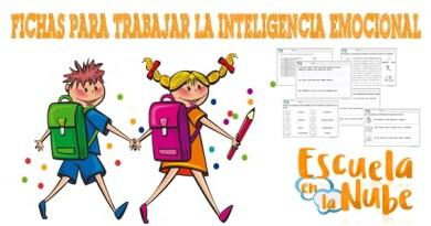 Inteligencia emocional: Fichas para trabajar en el aula