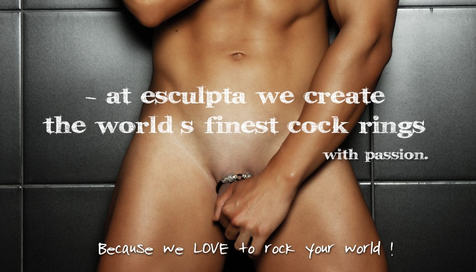 Designer cock rings Beautiful and precious penis jewelry by Esculpta  Esculpta