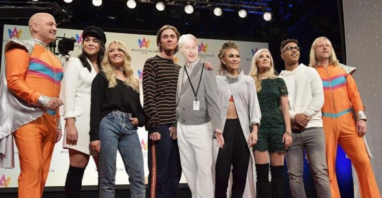 Artists taking part in deltävling 4 of Melodifestivalen 2018