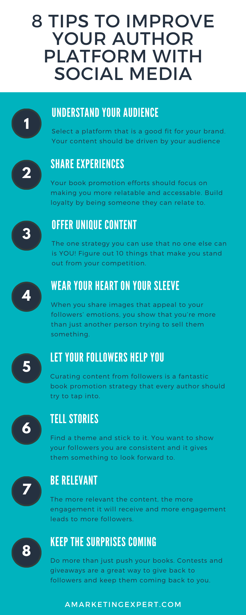 8-tips-to-improve-your-author-platform-with-social-media-infographic