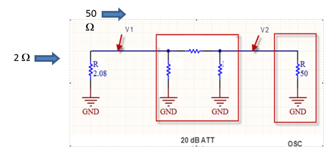 ESD Target with 20 dB attenuator configuration