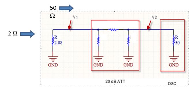 图3 ESD电流靶与20dB衰减器连接配置图
