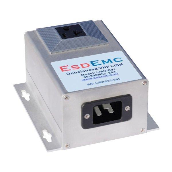 LISN-C01 不平衡超高频线路阻抗稳定网络(20A,30-300MHz,不平衡 2/3 线 VHF LISN)