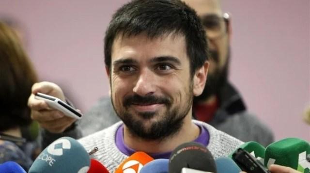 Ramón Espinar, en declaraciones a los medios de comunicación.