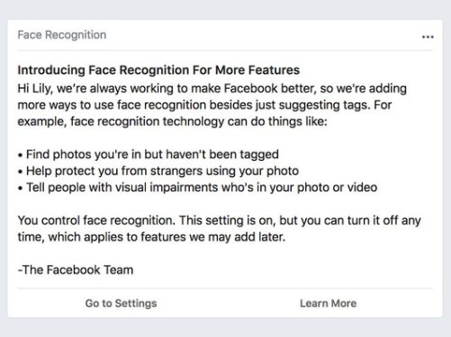 Face Recognition Announcement