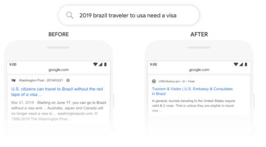 Google BERT Algorithm Example