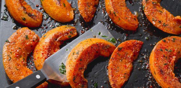 ricette con la zucca croccante con pancetta e pistacchi