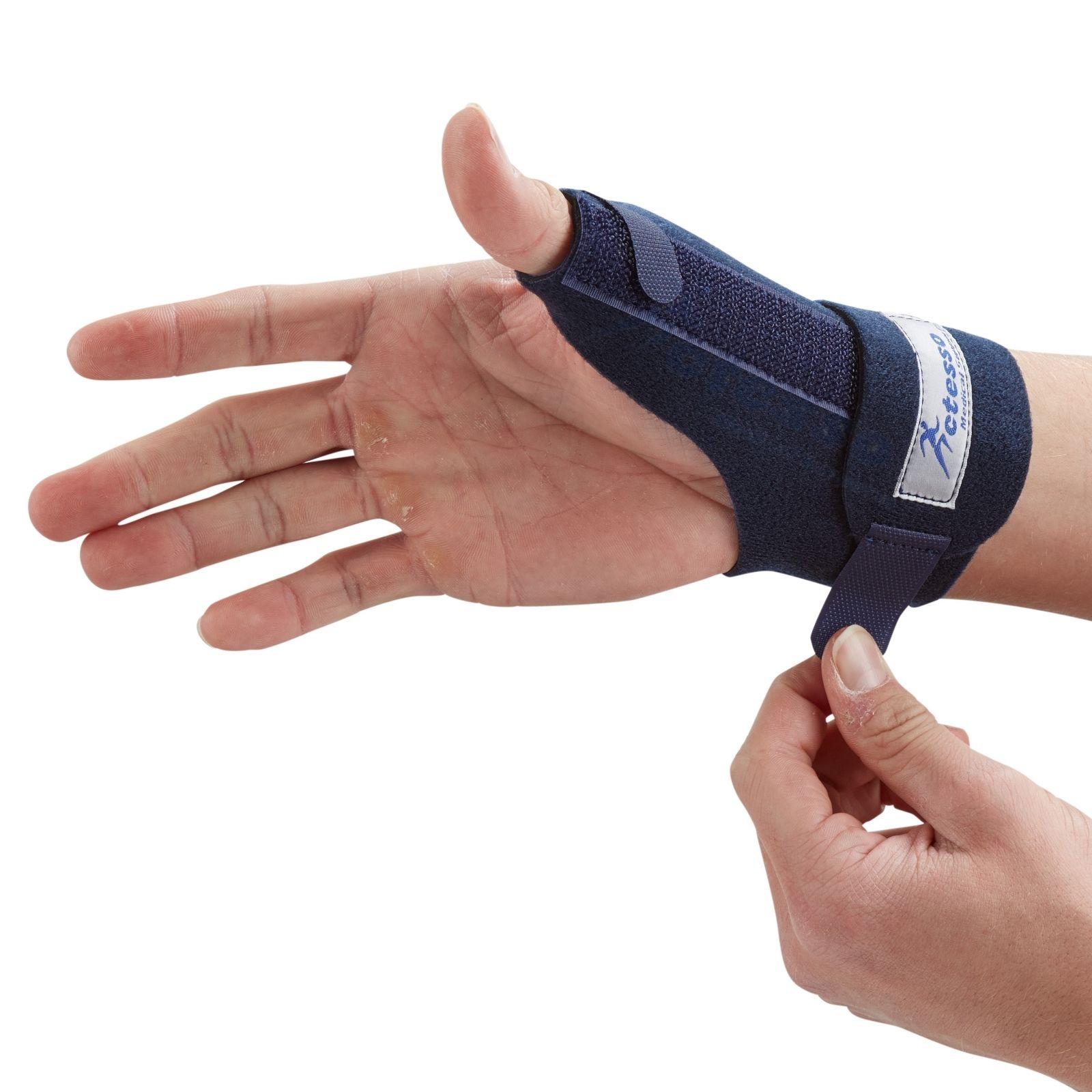 Blue Thumb Spica Support Strap - De Quervains Splint Brace ...