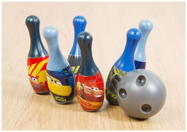 Official Disney Cars - Bowling Set With Ball 6 Pins